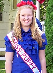 Allison Beckwith, 2013, our first Miss Poppy.