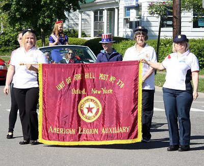 Auxiliary Unit 376 marching in the Memorial Day parade 2013.