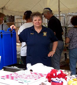 The Auxiliary's refreshment tent at their Great Garage Sale Day.