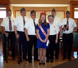 Legion members and Miss Poppy, Allison Beckwith at the NYS Veterans' Home.