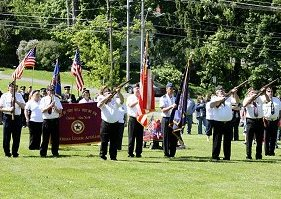 Legion Color Guard gun salute
