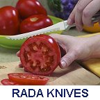 Image of Rada knife slicing a tomato