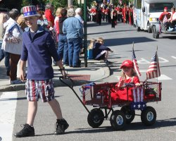 Patriotic kids at the parade.