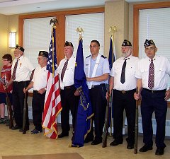 Legion ceremony at NYS Veterans' Home.